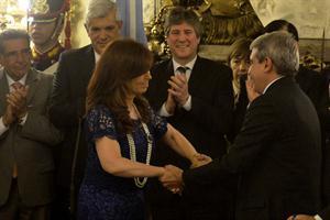 Aníbal Fernández juró otra vez como jefe de Gabinete y Wado De Pedro asumió como secretario de Presidencia