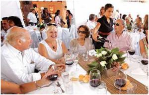 ge Matzkin y Sra. en el cumpleaños de Alfredo Vila